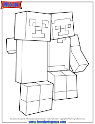 Creeper And Steve Best Buddies Coloring Page H M Coloring Pages