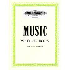 Music Writing Paper Edition Peters Music Writing Book Manuscript Paper Shar