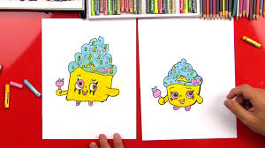 How To Draw A Shopkins Cupcake Queen Art For Kids Hub