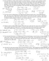 simultaneous equations worksheet with answers word problems