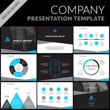 business presentation templates business presentation template set vector free download
