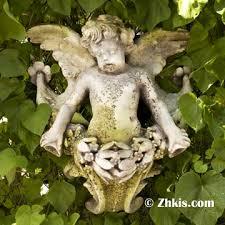 outdoor angel wall plaque
