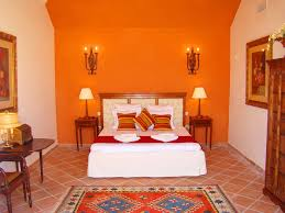 orange wall paintmaster bedroom decorating ideas orange wall paint with wall candle