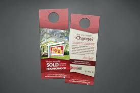 Door Hanger Design Template Inspiration At Realty We Create Ready To Print Real Estate Door Hanger Templates