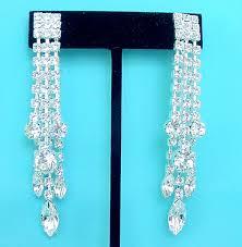 swarvoski crystal rhinestone wedding earrings bridal jewelry made with genuine swarovski austrian crystal