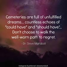 "Quotes About Unfulfilled Dreams Best of Quote By Steve Maraboli ""Cemeteries Are Full Of Unfulfilled Dreams"