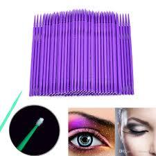 2019 bag durable micro disposable eyelash extension individual applicators mascara brush for women eyelash glue cleaning stick from misssecret