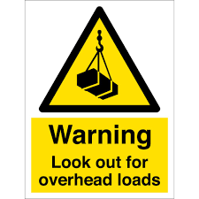 Look Out For Overhead Loads Signs From Key Signs Uk