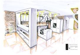 modern architecture sketch. Internal Architectural Sketch For House Architecture Artnmeal Kitchen A Modern Design In Large Space Of Specious Interior Decorative Bricks Wal E