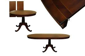 round dining table with leaf classically styled mahogany to oval expands seat 8 erfly hardware round dining table