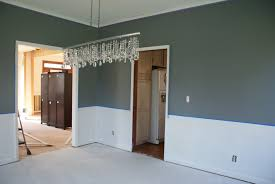 two tone walls with chair rail home