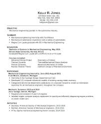 Mechanical Engineering Intern Cover Letter Electrical Engineer Internship Resume Engineering Mechanical For