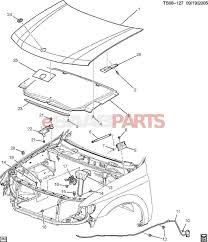 Saab 9 3 parts diagram best of esaabparts saab 9 7x car body external parts hood