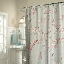 upscale shower curtains chic blue fl bird luxury 16