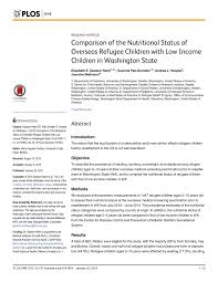 Pdf Comparison Of The Nutritional Status Of Overseas