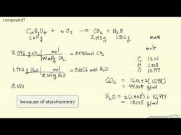 Combustion Analysis Chart Empirical Formula From Combustion Analysis Example Youtube
