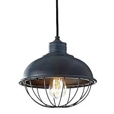 bronze wire industrial cage pendant light shade kmart vintage metal rounded iron bowl barn electric in