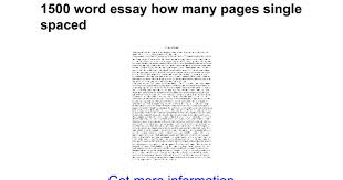 word essay how many pages single spaced google docs