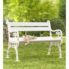 bench with arms. Weatherproof With Scroll Arms PVC Garden Bench