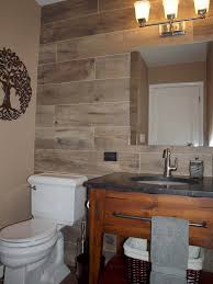 toilet sink and wood look wall tile