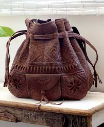 moroccan bucket bag chocolate