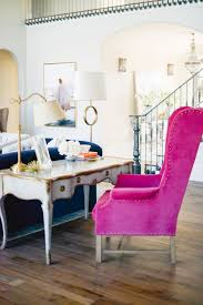 hot pink velvet accent chair