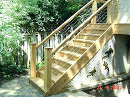 exterior wood staircase wood stair railing kits cable stair railing kit outdoor wood staircase railing design
