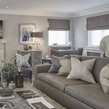 Grey blue and taupe in the rustic chic Esher project  SophiePatersonInteriors  Real FireComfy ChairLiving Room IdeasTaupe ...