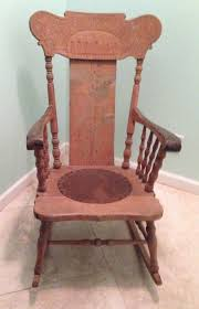 vintage solid wood rocking chair 1 of 9 see more