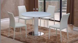 elise round high gloss dining table four chairs