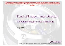 directory all fund of hedge funds worlwide by q m s advisors issuu