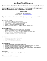 How To Write A Good Resume Sample Great Examples 2016 Intended For