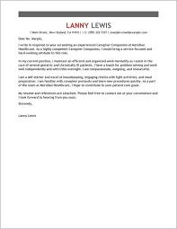 Sample Cover Letter For Caregiver In Canada Cover Letter Resume