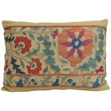 decorative lumbar pillows antique orange and blue embroidery fl pillow for covers decorative lumbar pillows