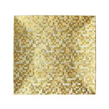charger plates decorative: the jay companies quot x quot square gold mosaic polypropylene charger plate