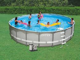 Ideas Luxury Round Intex Ultra Frame Pool Above Ground Swimming