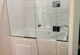 tray amusing tile pan sizes seniors ideas combo bathtub images subway doors pictures shower costco menards