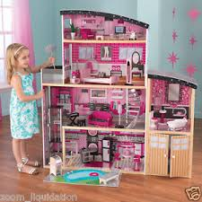 wooden barbie dollhouse furniture. Image Is Loading GirlsDollHouseDollhouseFurnitureWoodenKidkraftBarbie Wooden Barbie Dollhouse Furniture H