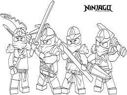 Small Picture Lego Ninjago Printable Coloring Pages Coloring Kids Coloring