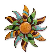 main image for talavera painted metal flower wall art on talavera metal wall art with talavera painted metal flower wall art wall art