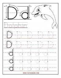 Small Picture Free Printable letter D tracing worksheets for preschool