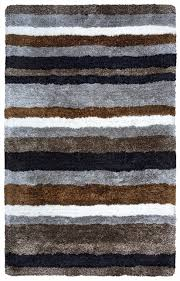 home commons soft area rug 5 x 8 multi color grey brown black white striped