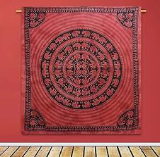 indian elephant tribal mandala red