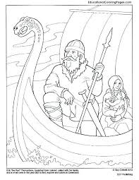 Small Picture Eric the Red coloring page Mystery of History Volume 2 Lesson 51