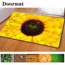 Rubber Floor Mats Kitchen Compare Prices On Sunflower Kitchen Rugs Online Shopping Buy Low