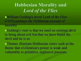 chapter five social contract theory and the motive to be moral  4 hobbesian morality and lord of the flies