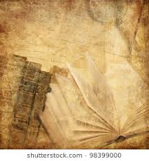 vine background with old books