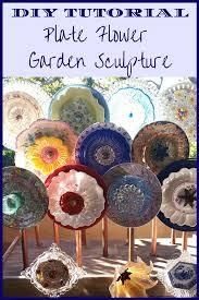 vvc plate flower garden sculpture diy tutorial