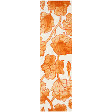 safavieh dip dye ivory orange 2 ft x 8 ft runner rug