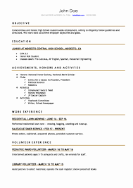 Resume Example For Students Resume Example College Student Inspirational High School